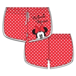 Youth Minnie Peeking Short, Polka Dot
