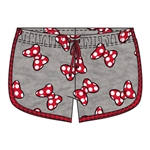 Youth Girls So Minnie Bows Shorts, Gray Red