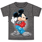 Youth T-Shirt Mickey Music, Black Heather