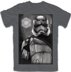 Youth Star Wars Storm Trooper Tee, Charcoal Gray