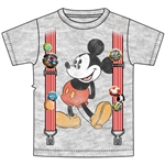 Youth Boys Tee Mickey Suspenders, Gray