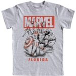 Youth Boys T-Shirt Avengers Assemble, Grayk (Florida Namedrop)