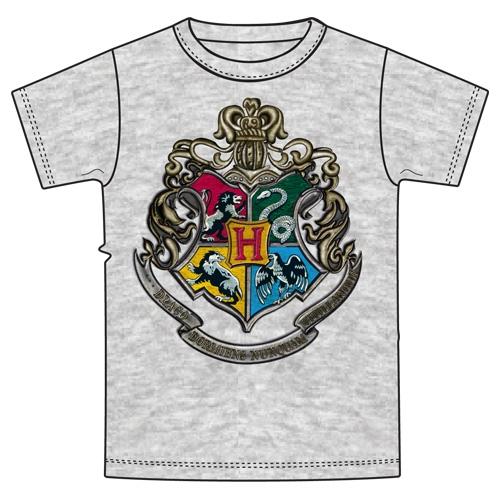f0560dfa Youth Unisex T Shirt Harry Potter Hogwarts Crest, Gray