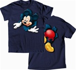 Boys T Shirt Pop Out Mickey, Navy