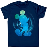 Youth T-Shirt Galactic Mickey, Navy Blue
