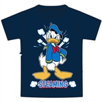 Youth Boys Tee Donald Steaming , Navy Blue