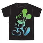 Youth T-Shirt Painted Mickey, Black