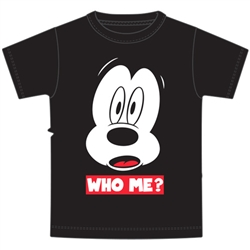 Youth Boys Tee Who Me Mickey, Black