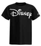 Youth Unisex Tee Shirt Disney Logo, Black (Florida Namedrop)
