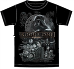 Youth Unisex T Shirt Rogue One Cast Tee, Black