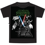 Youth Boys T Shirt Star Wars New Hope Group, Black (No Namedrop Allowed)