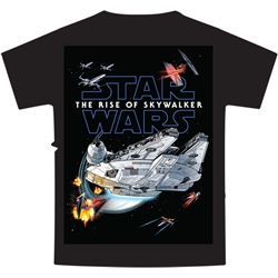 Youth T Shirt Star Wars Battle The Rise of Skywalker Tee, Black