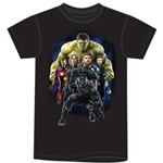 Youth Boys Tee Marvel Strong Group, Black (Namedrop Required)