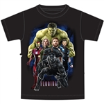 Youth Boys T Shirt Marvel Strong, Black (Florida Namedrop)