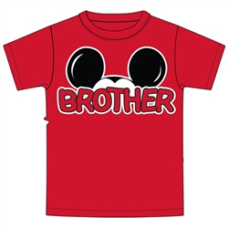 Youth Brother Family Tee, Red