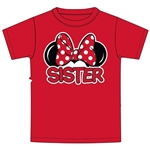 Youth Sister Family Tee, Red