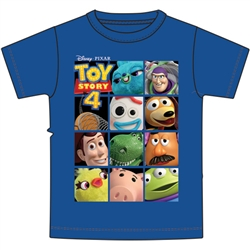 Youth Tee Toys Story Toy Box Woody Buzz, Royal Blue