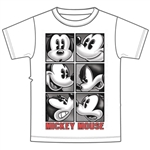 Youth Boys Tee Shirt Mickey Attitude, White