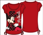Youth Girls Fashion Top Side Tie On the Ground Minnie, Red