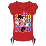 Youth Girls 2020 Minnie Color Repeat Side Tie Top, Red