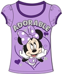 Youth Fashion Top Adorable Minnie, Purple Ringer