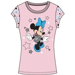 Youth Girls Fashion Star Sleeve Top Minnie Star Dazzle, Pink