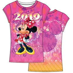 Youth Girls 2019 Celebrate Minnie Sublimated Top, Multi Color (No Namedrop)