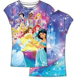 Youth Girls 2019 Princess Sublimated Top, Multi Color (No Namedrop)