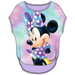 Youth Girls Sublimated Top Minnie Bubbles, Lilac Purple