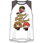 Youth Girls Raglan Tank Top Harry Potter Wand, Multi-Colored