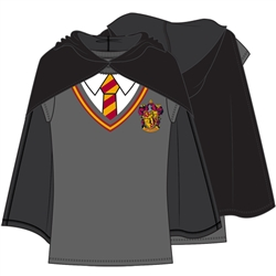 Youth Girls Harry Potter Cape Tee, Gray Black