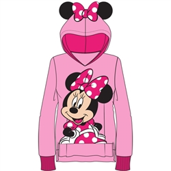 Youth Sweet Minnie with Ears Pullover Hoodie, Pink