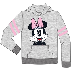 Youth Sport Minnie Pullover Hoodie, Gray Pink