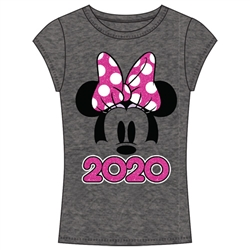 Youth 2020 Minnie Show Fashion Top, Dark Gray Pink