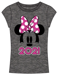 Youth Girls 2021 Minnie Show Fashion Top, Gray