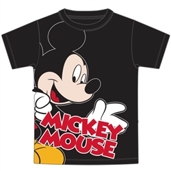 Youth Boys Tee Look Out Mickey Mouse, Black