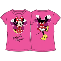 Youth Girls Fashion Top Minnie Mouse Climbing F&B, Pink
