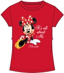Youth Girls Fashion Top All About Me Minnie Mouse, Red