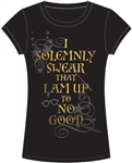 Youth Fashion Top Harry Potter Solemnly Swear, Black