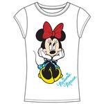 Youth Girls Fashion Top It's Minnie, White