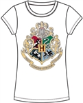Youth Fashion Top Harry Potter Crest, White
