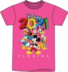 Toddler 2021 Fun Friends Mickey Minnie Pluto Donald Goofy, Pink (Florida Namedrop)