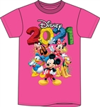 Toddler 2021 Fun Friends Mickey Minnie Pluto Donald Goofy Tee, Pink