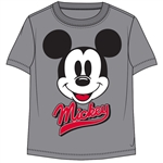 Toddler Boys T Shirt Mickey Face Pump, Grey