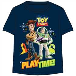 Toddler Boys T Shirt Toy Story Play Time, Navy Blue