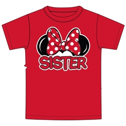 Toddler Sister Family Tee, Red