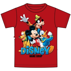 Toddler Boys T Shirt Mickey and Friends Pluto Donald Goofy, Red