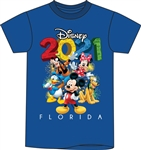 Toddler 2021 Fun Friends Mickey Minnie Pluto Donald Goofy, Royal Blue (Florida Namedrop)