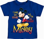 Toddler Boys T Shirt Boss Mickey, Royal