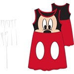 Toddler Mickey Face Dress, Red